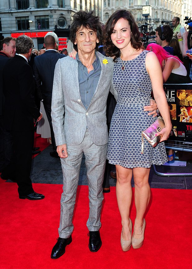 Ronnie Wood and Sally Humphreys at the This Is Us premiere