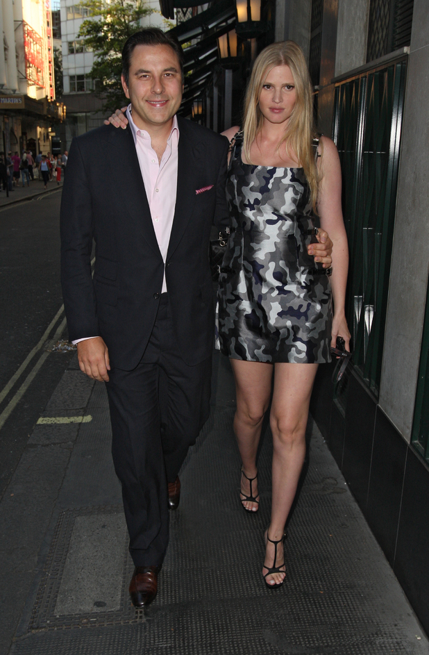 David Walliams and Lara Stone, David Walliams' 42nd birthday party at the Ivy Club
