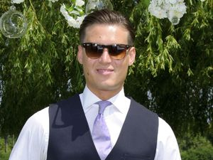 Charlie Sims from 'The Only Way Is Essex' at Carol Wright and Mark Wright Sr's wedding vow renewal ceremony