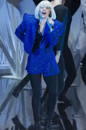 Lady Gaga on stage at the MTV Video Music Awards Show, New York, America - 25 Aug 2013