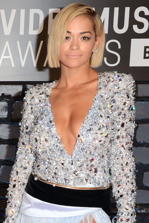 Rita Ora arrives at the MTV Video Music Awards 2013