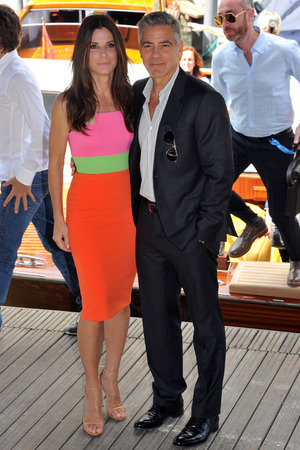 70th Venice International Film Festival, Italy - 28 Aug 2013George Clooney, Sandra Bullock arrive in a boat