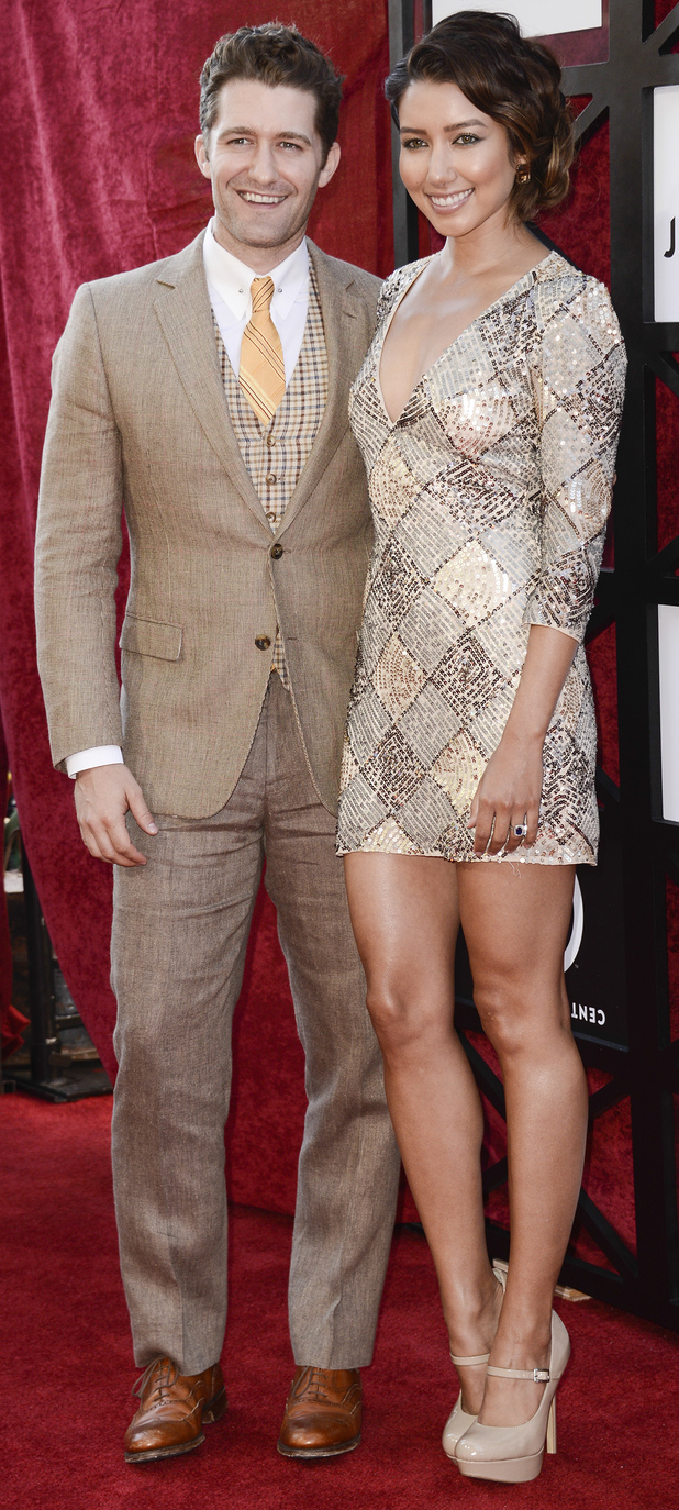 Matthew Morrison and Renee Puente arrive at the Comedy Central Roast of James Franco