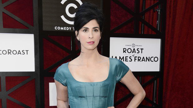 Sarah Silverman arrives at the Comedy Central Roast of James Franco