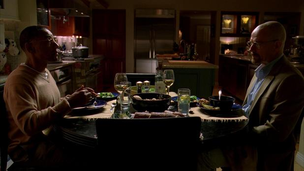 Gus Fring and Walter White in 'Breaking Bad' season 3 episode 11 'Abiquiu'