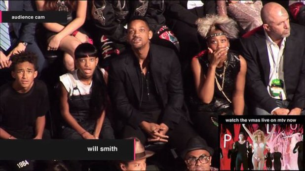 Will Smith, Willow and Jaden.