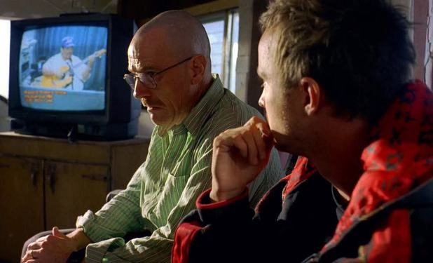 Walt and Jesse in 'Breaking Bad' season 2, episode 2 'Grilled'