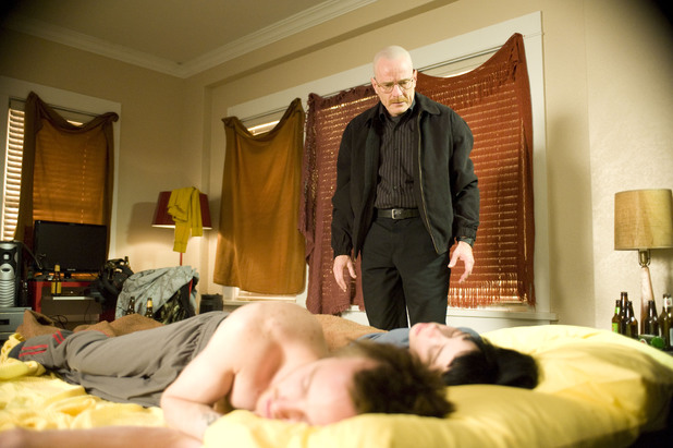 Breaking Bad S02E12: Jesse Pinkman (Aaron Paul), Jane Margolis (Krysten Ritter) and Walter White (Bryan Cranston)