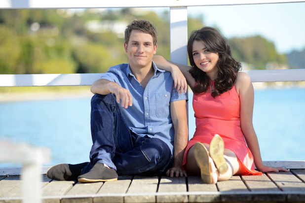 Jake Speer and Philippa Northeast as Oscar and Evelyn MacGuire in Home and Away