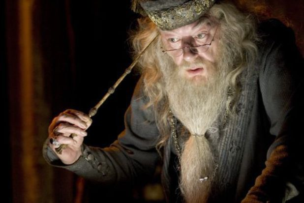 Michael Gambon as Dumbledore in the Harry Potter film series.