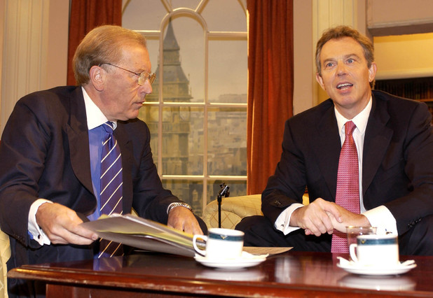 Tony Blair and Sir David Frost.
