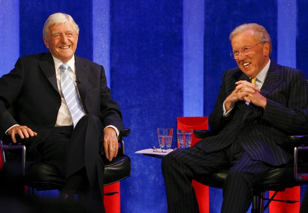 Sir David Frost and Michael Parkinson