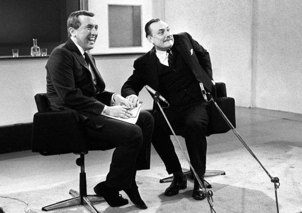 David Frost interviewing Enoch Powell on LWT in 1969.