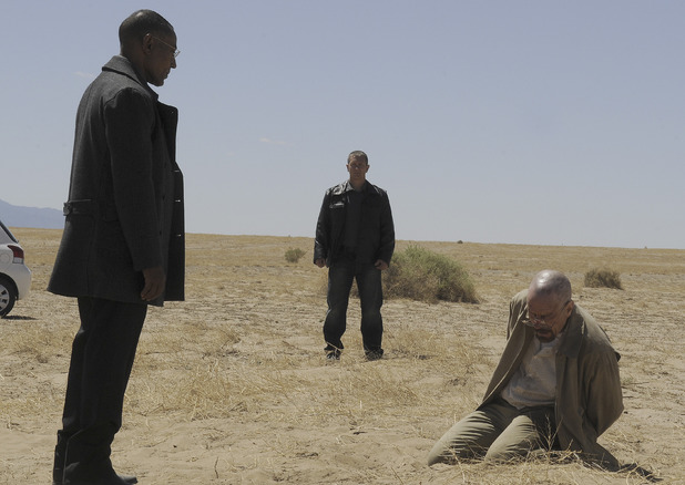 Breaking Bad S04E11: Gustavo Fring (Giancarlo Esposito) and Walter White (Bryan Cranston)