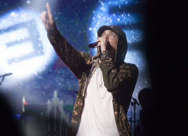 Eminem performing at 'Shock The World 2013' in New York
