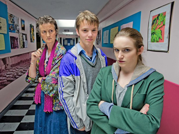 Georgie Glen, Joe Slater and Caitlin Gillespie in Waterloo Road