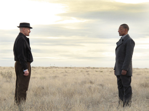Walter White and Gustavo Fring in 'Breaking Bad' season 3