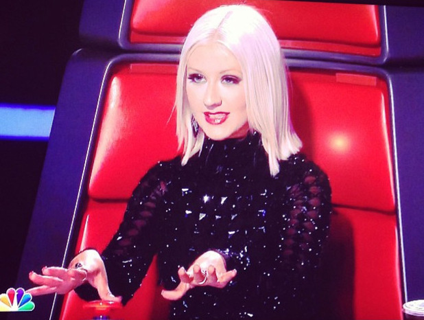 Christina Aguilera's new hair style during 'The Voice'