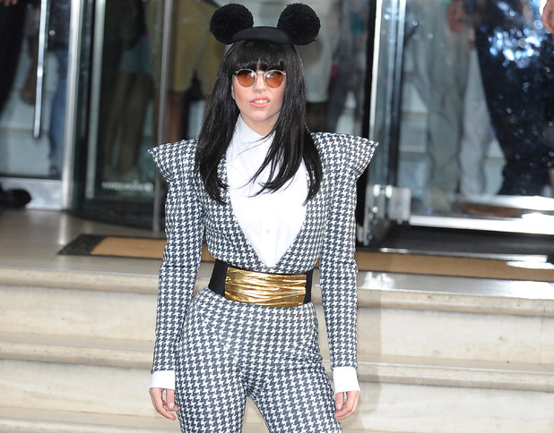 Lady Gaga leaves her for the Camden RoundHouse Rehersals ahead of her Itunes Festival Performance.