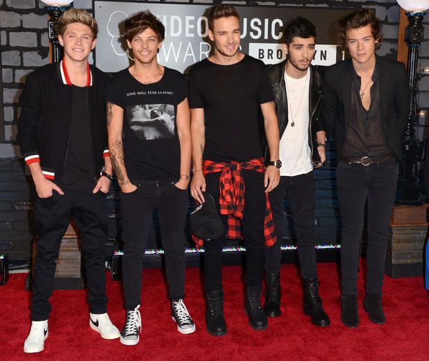 One Direction arrive at the MTV Video Music Awards 2013