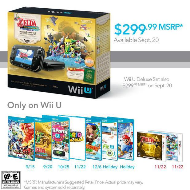 'The Legend Of Zelda: The Wind Waker HD' Wii U console bundle
