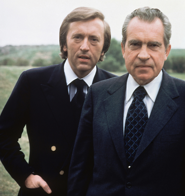 David Frost with Richard Nixon in 1977