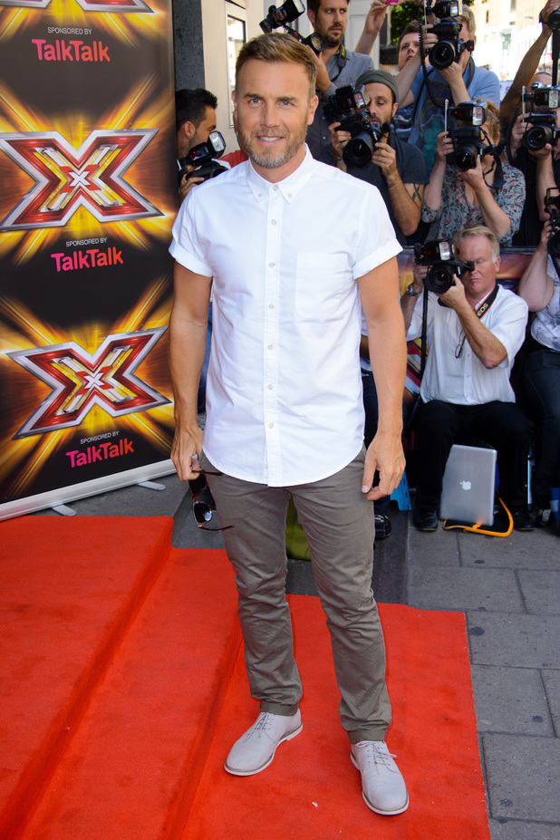 Gary Barlow at the X Factor 2013 press launch held at The May Fair Hotel, London