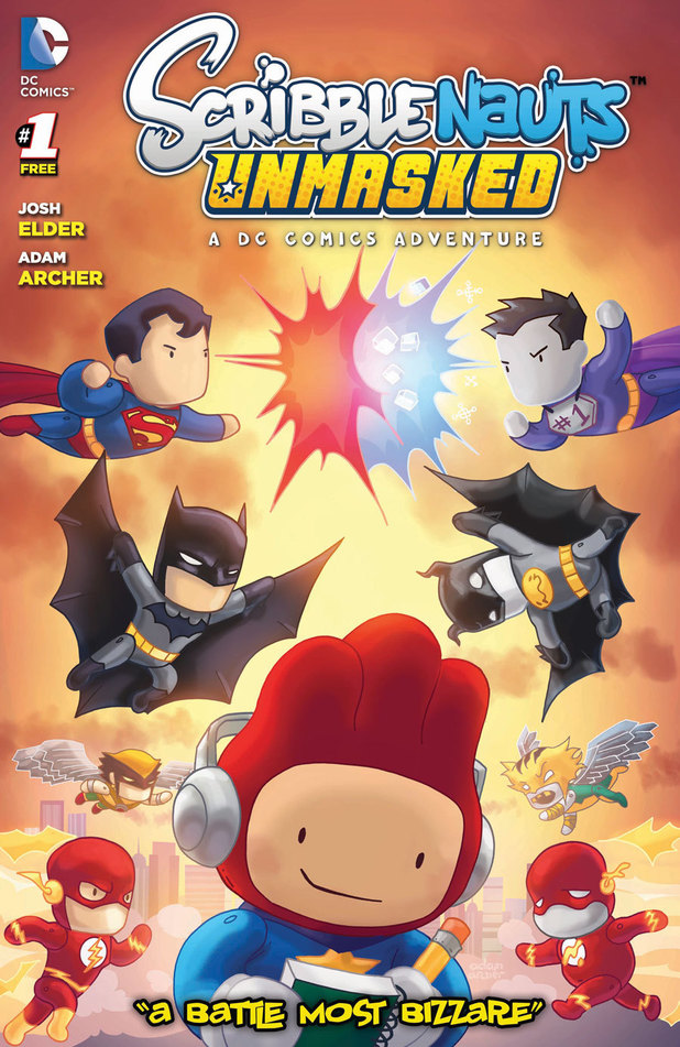 Scribblenauts Unmasked: A DC Comics Adventure comic art