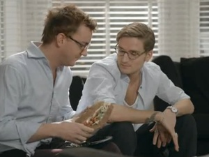 Francis shows off his sandwich to Proudlock