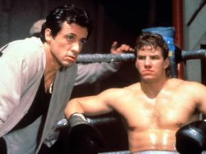 Sylvester Stallone & Tommy Morrison in 'Rocky V'