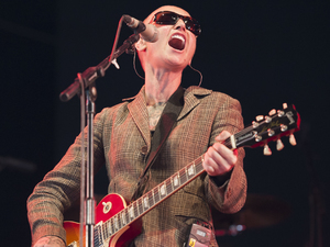 Sinead O'Connor performs on stage at Bestival.