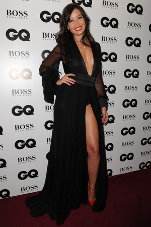Daisy Lowe, plunging Saint Laurent dress, GQ Men of the Year Awards, Royal Opera House, London, Britain - 03 Sept 2013