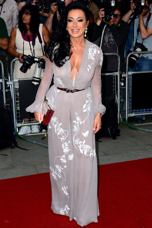 Nancy Dell'Olio attends the GQ Men of the Year Awards in association with Hugo Boss at the Royal Opera House, London.