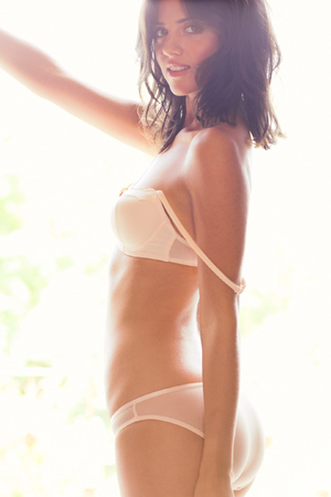 Lucy Mecklenburgh photo shoot for FHM Magazine
