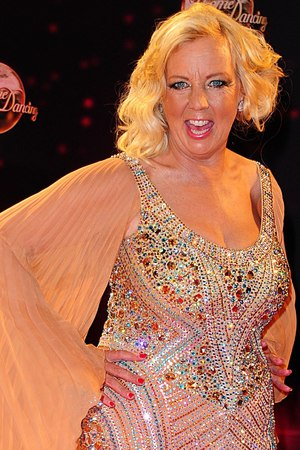 Deborah Meaden arriving for the Strictly Come Dancing Photocall at Elstree Studios