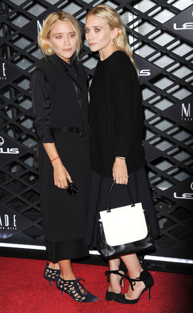 Mary-Kate Olsen, Ashley Olsen at the Lexus Design Disrupted Fashion Experience event held at SIR Stage 37 -