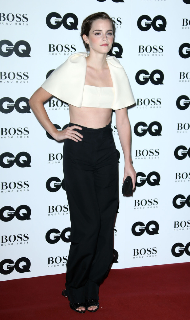 Emma Watson arriving at the GQ Men of the Year Awards held at the Royal Opera House