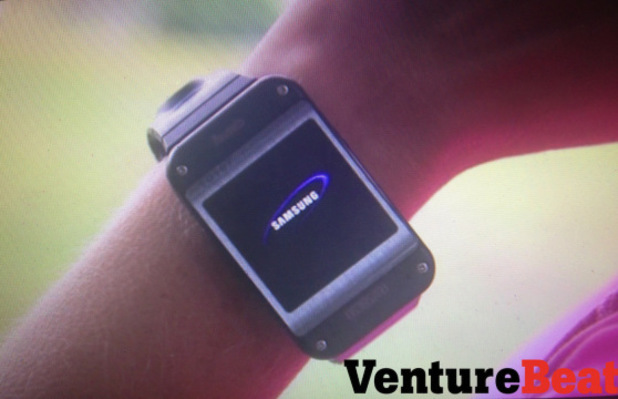 Purported leaked photograph of the Samsung Galaxy Gear
