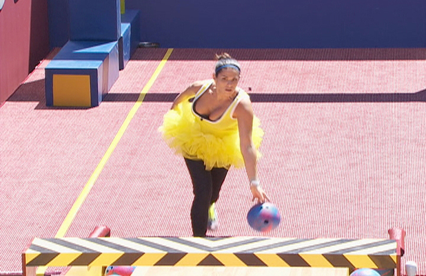 Big Brother USA:  Amanda competes in the Veto competition