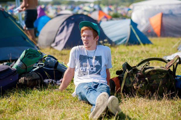 Bestival 2013: guests in the campsite
