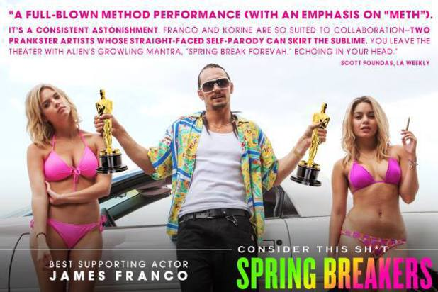 'Spring Breakers' Oscar campaign for James Franco
