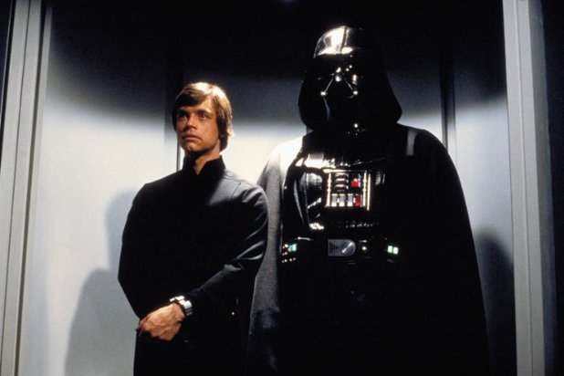 Luke Skywalker and Darth Vader in 'Star Wars: Return Of The Jedi'