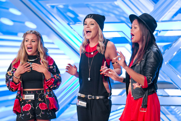 Dolly Rockers performing on The X Factor 2013.