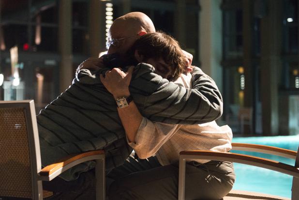Walter White, Jr. (RJ Mitte) and Walter White (Bryan Cranston)