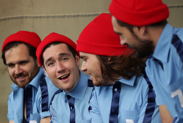 Bastille chill backstage at Bestival
