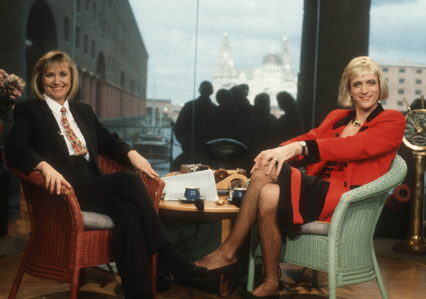 'This Morning' TV Programme - 1992 Judy Finnigan as Richard Madeley and Richard Madeley as Judy Finnigan 1992