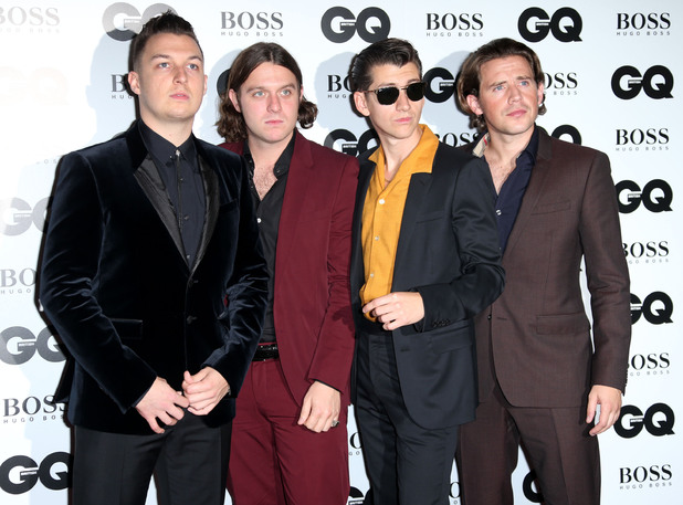 The Arctic Monkeys arriving at the GQ Men of the Year Awards held at the Royal Opera House