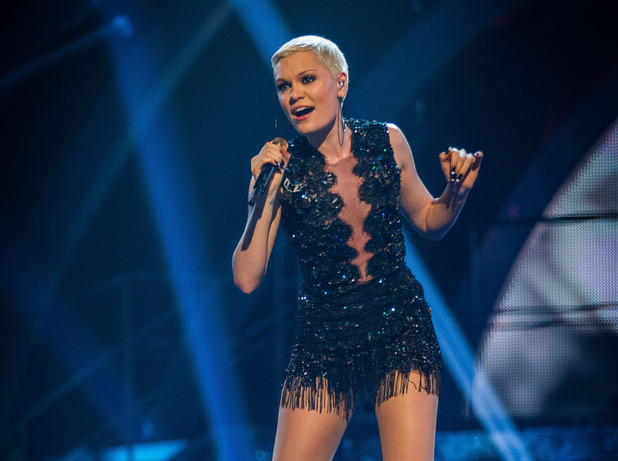 Jessie J performing on the Strictly Come Dancing 2013 launch show.