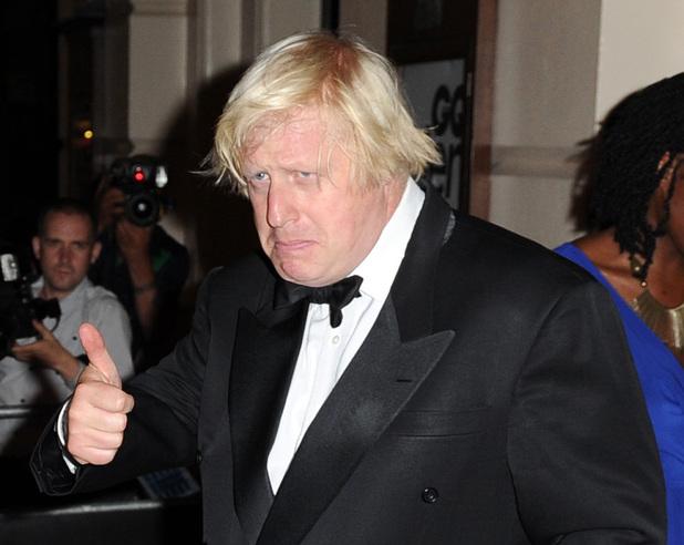 Boris Johnson arriving at the GQ Men of the Year Awards held at the Royal Opera House