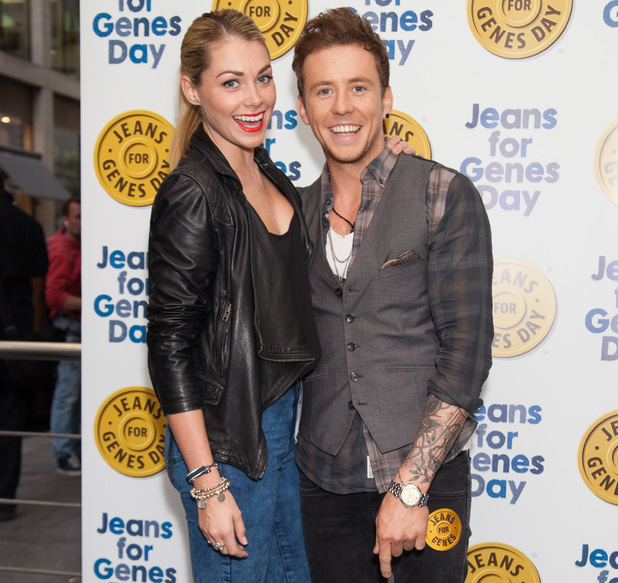 Danny Jones and Georgia Horsley at the Jeans for Genes 2013 party